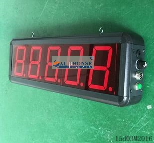 LED digital quantity automatic production line counter counting line conveyor belt induction display board(China (Mainland))