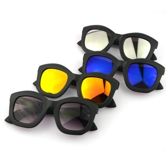 Новый kuboraum бренда преувеличить моды Симфония флуоресцентный свет черная рамка очков
