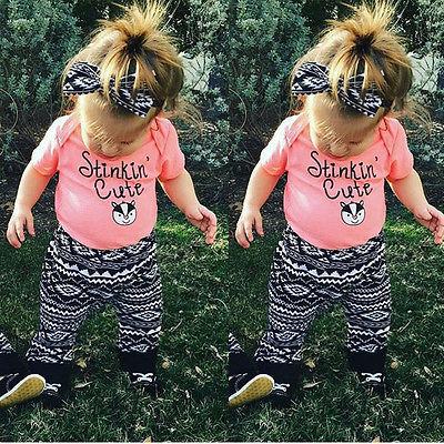 HOT 2PCS Toddler Kids Baby Girls Outfits T-shirt Tops Dress+ Long Pants Clothes Set(China (Mainland))