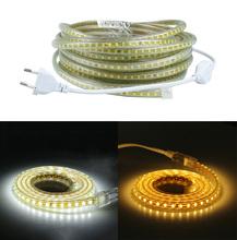 220V SMD 2835 Flexible Led Strip Light 1M/2M/3M/4M/5M/6M/7M/8M/9M/10M/15M/20M+Power Plug,120leds/m IP65 Waterproof led Ribbon(China (Mainland))