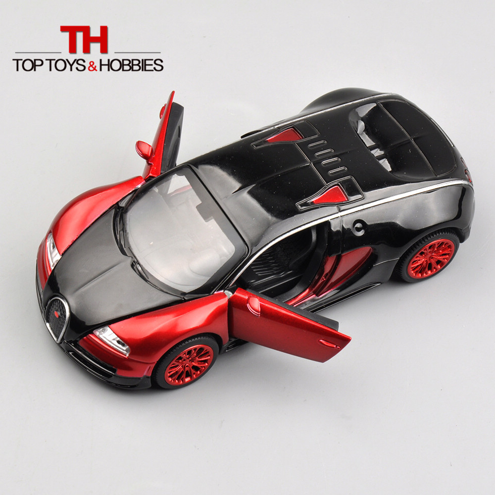 Collectible Car Toys For Boys 1:32 Bugatti Veyron New Design Pull Back Cars With Sound Light Alloy Diecast Mini Model Electronic(China (Mainland))