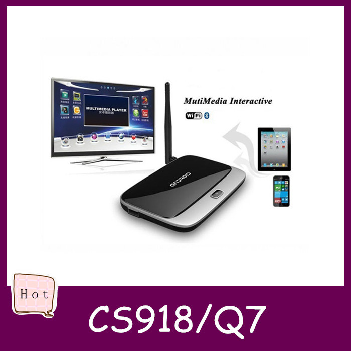 Q7 CS918 MK888B 2G RAM 8G ROM Android 4.4.2 Quad core RK3188T XBMC/KODI TV BOX Smart IPTV Media Player Bluetooth(China (Mainland))