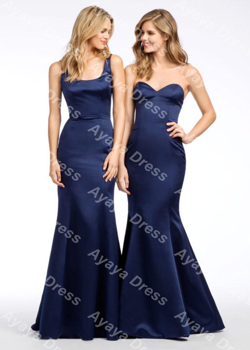 bleu marine de demoiselle d 39 honneur robes promotion achetez des bleu marine de demoiselle d. Black Bedroom Furniture Sets. Home Design Ideas