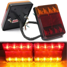 Car Waterproof LED Tail Light Rear Lamps Pair Boat Trailer Submersible 12V Rear Parts for Trailer Truck Boat(China (Mainland))