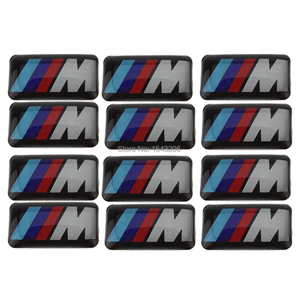 10X Tec Sport Wheel Badge 3D Emblem Sticker Decals Logo For bmw M Series M1 M3 M5 M6(China (Mainland))