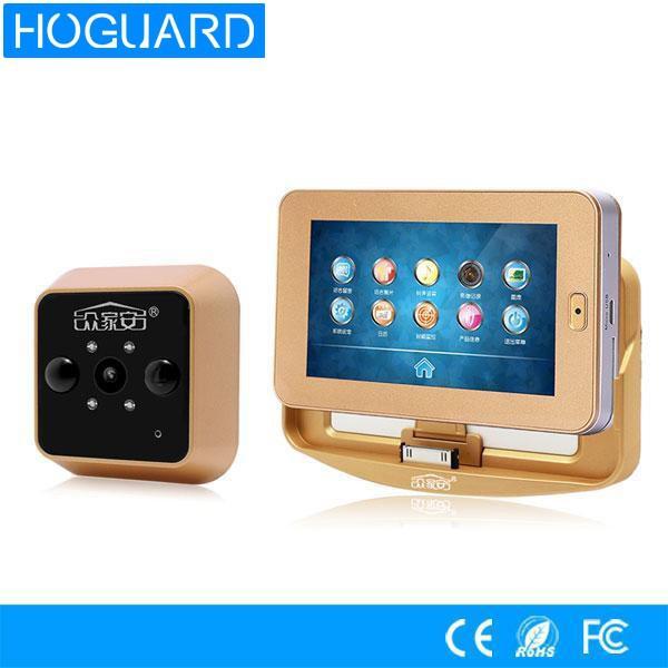 4 3 touchscreen wireless t rspion kamera bewegungserkennung t rkamera mit. Black Bedroom Furniture Sets. Home Design Ideas