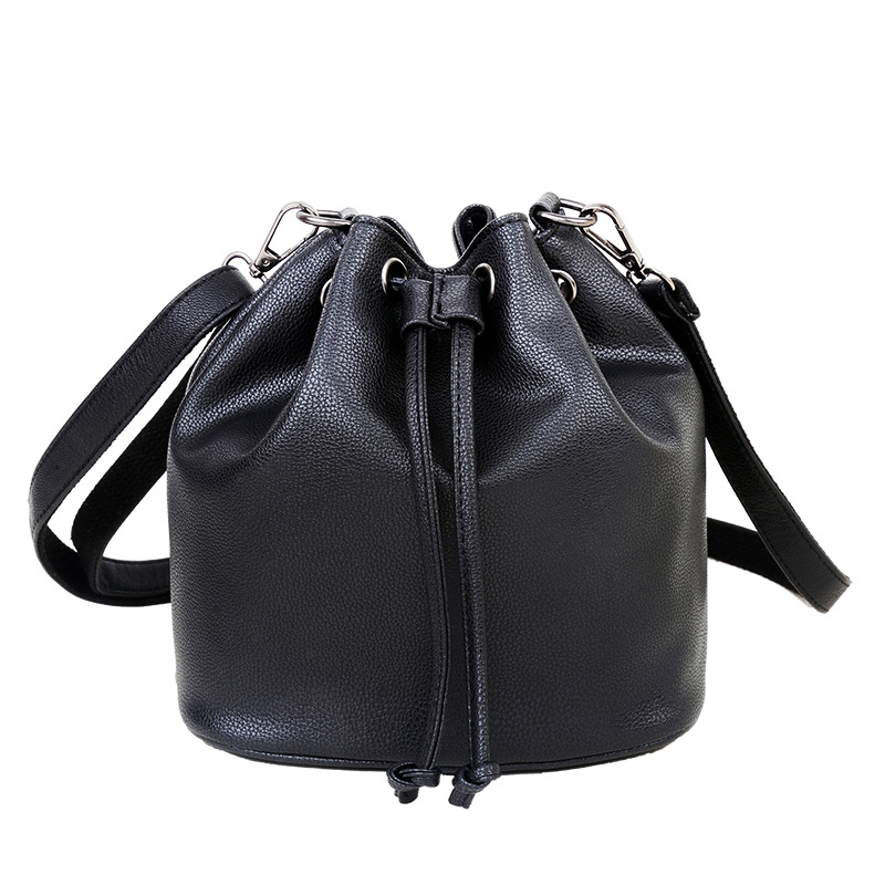 Hot sale Fashion 2016 candy color fashion all-match bucket bag pu leather one shoulder cross-body women's handbags WLHB1390(China (Mainland))
