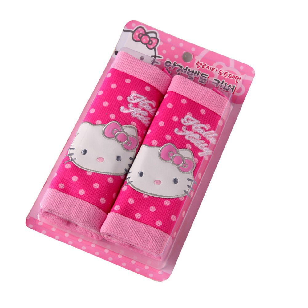 Hello Kitty Seat Safe Belt Covers Set Car Styling Safety