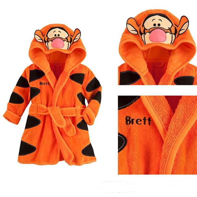 2015 бесплатная доставка новые девочки мальчиков мультфильм тигр ползунки пижамы ...