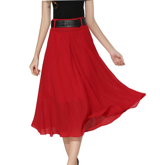 Большой размер 2016 новый летний мода свободного покроя женщин юбки-line тонкий высокая ...