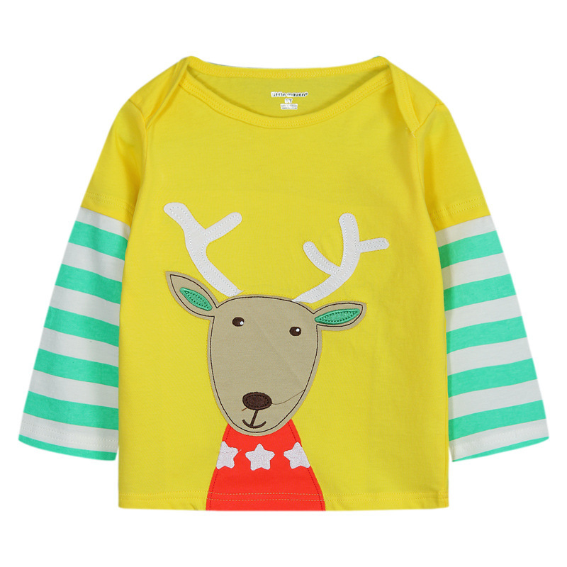 2015 new brand boys t-shirts, kids cotton long sleeve tops,children yellow tees,autumn fashion next clothing style for 1-6 years(China (Mainland))
