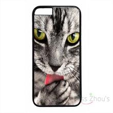 For iphone 4/4s 5/5s 5c SE 6/6s plus ipod touch 4/5/6 back skins mobile cellphone cases cover Cute Cat Cats Animal Theme Black