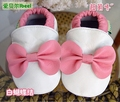 Baby Shoes Newborn Kids First Walkers Girls Boys Leather Soft Outsole Indoor Floor Cute White Pink