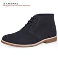 British Style ELANROMAN Mens Luxury Shoes Autumn Genuine Leather Patent Customized Leisure Bullock Black Ankle Casual