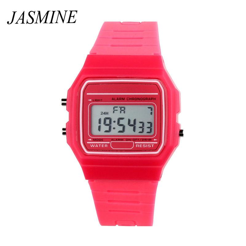 Гаджет  Hot Silicone Rubber Digital Girls Children Watch Sports 8 Color LED Cute Hour Quartz Watch Wristwatches Dress Kids Women Watches None Часы