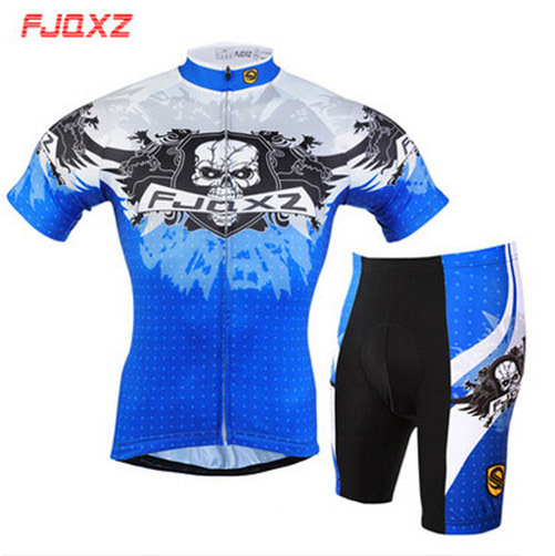 2016 3D GEL Padded Riding Tights T-shirts Suit Wolf Skull Bicicleta Ropa Ciclismo Maillot Bicycle Bike Cycling Jersey Set(China (Mainland))