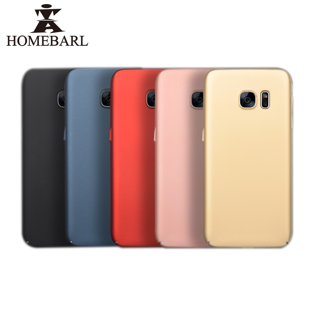 HOMEBARL Brand Cover For Samsung Galaxy S7 Edge S8 Plus Luxury Phone Case Ultra Thin Top Quality Cover Luxury Hard Frosted PC1C5(China (Mainland))
