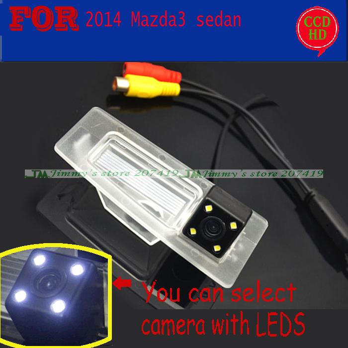 new wireless wire for sony ccd  LEDS night vision car reverse parking camera for 2014 Mazda 3 (3) Axela sedan waterproof