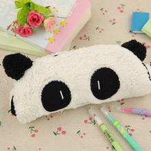 1pcs Big Capacity Plush Panda School Kids Pen Pencil Case Bag Gift Pendant School Supplies(China (Mainland))