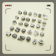 Mixed 60pcs big hole Loose Beads European pendant