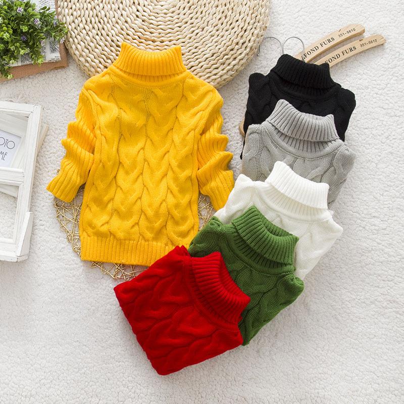 New Kids Sweater Baby Boys and Girls Sweater Childrens Autumn Winter All-Match Sweater Kids Unisex Turtleneck Sweater ET122(China (Mainland))