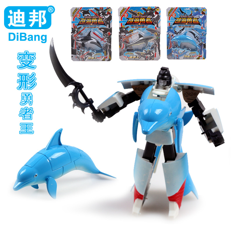 Dolphin Whale Shark Photipong Animal Model Robot Toy Children Selling Children's Toys Deformation Machines Animal Dolphin 2016(China (Mainland))