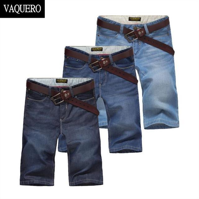 Джинсовые шорты для мужчин 2015 лето основной стиль бесплатная доставка прямой покрой ...