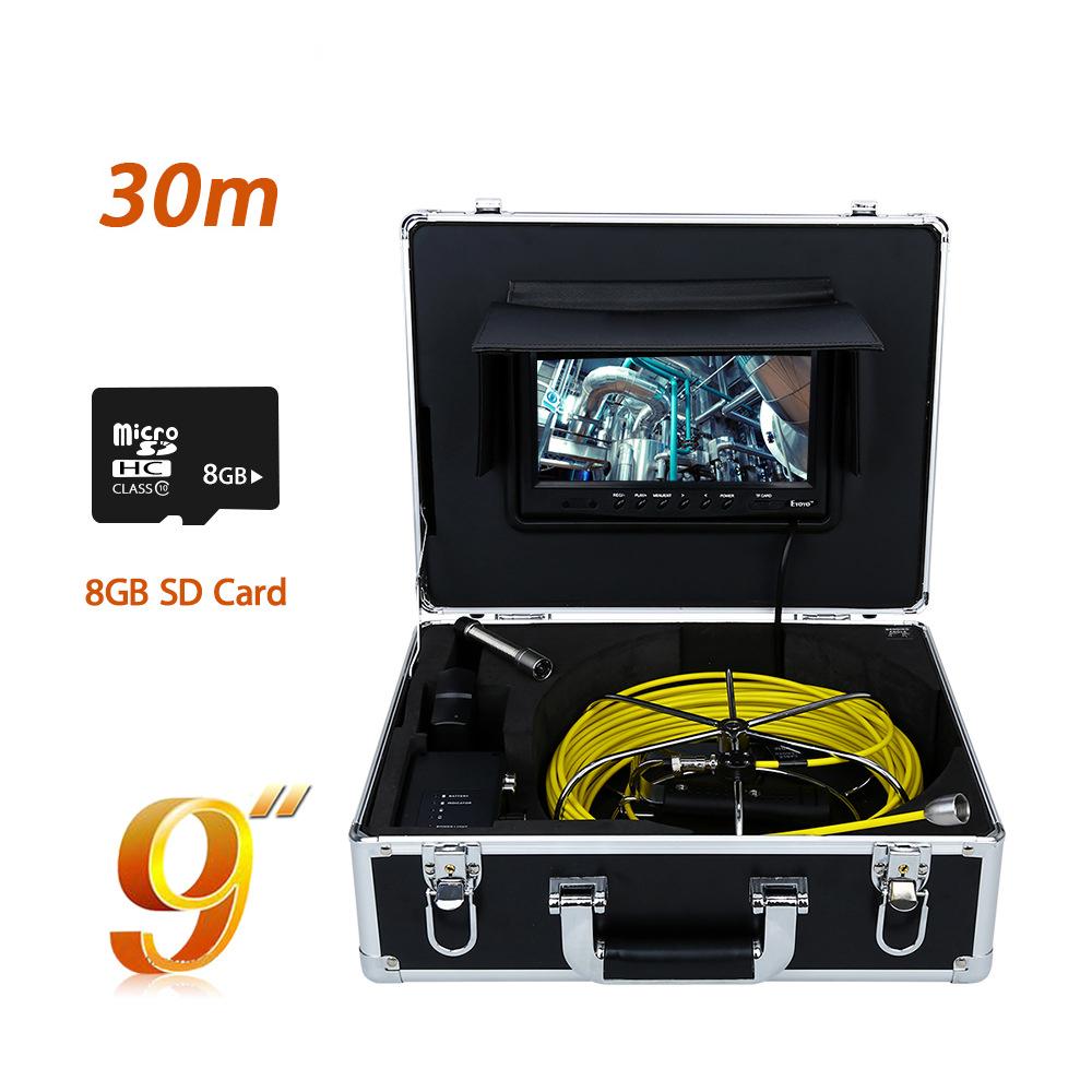 WP90B-30M drain cctv survey sewer plumber with drain camera inspection cctv camera pipeline camera inspection machine(China (Mainland))