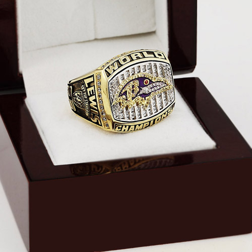 Solid 2000 Baltimore Ravens Super Bowl Football Championship Ring Size 10-13 With High Quality Wooden Box Best Fans Gift(China (Mainland))
