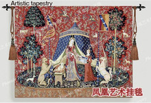 Artistic tapestry fabric soft outfit the lady and unicorn series - my only desire Three sizes to choose fromFree shipping(China (Mainland))