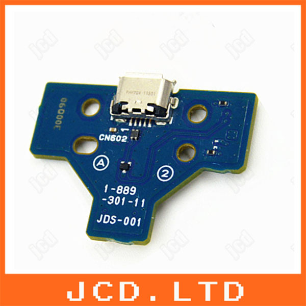 5pcs used LED Power/Charge Board w/ 14pin Ribbon Cable For Sony PS4 Wireless Controller charging motherboard(China (Mainland))