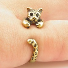 ONE PIECE Hot Sale Free Shipping Adjustable Leopard Animal Wrap Ring -Bronze silver Women's Girl's Retro – Rings For Teen Girls