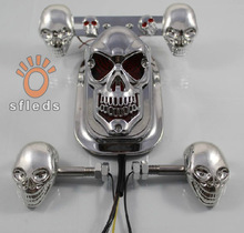 electric motorcycle skulls ghost front directional lamp brake lights tail lights assembly(China (Mainland))