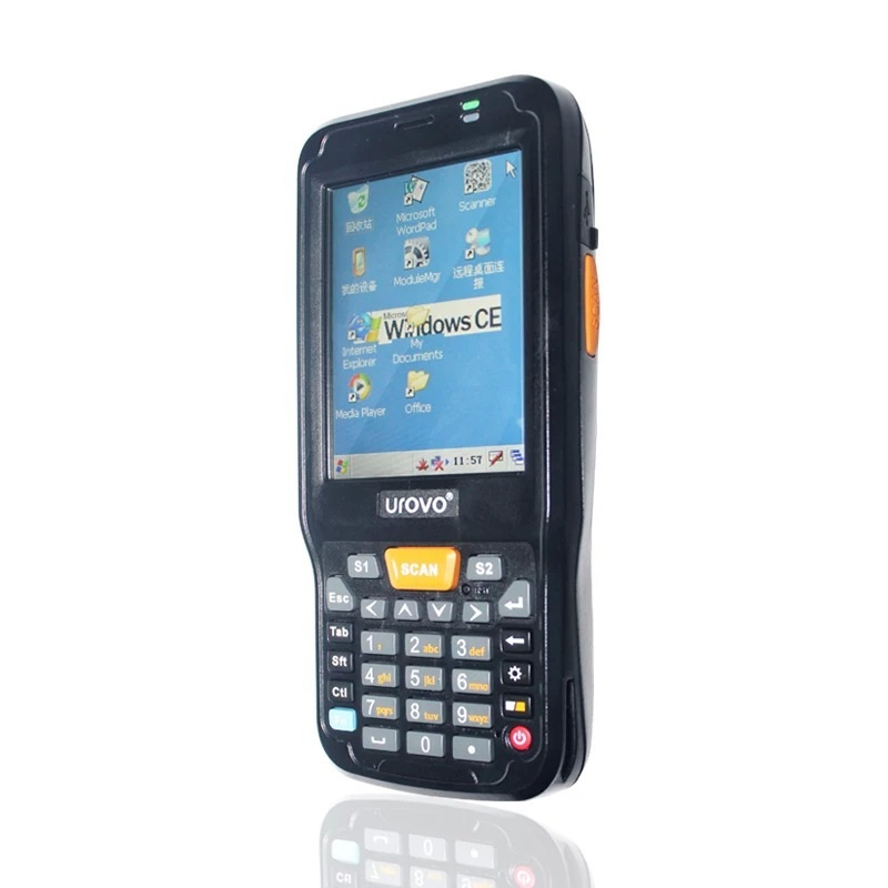urovo i6100s android pda handheld 2d laser barcode scanner data collector terminal with gprs gps frid nfc , free shipping!(China (Mainland))