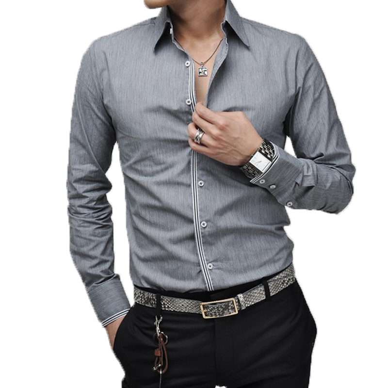 Men shirt luxury brand 2016 male long sleeve shirts casual for Mens casual shirts brands