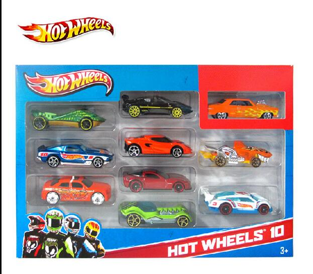 10Pcs Hot Wheels Toy Cars For Kid Boys Metal Car Model Classic Antique Collectible For Sale Hotwheels Collection Miniatures(China (Mainland))