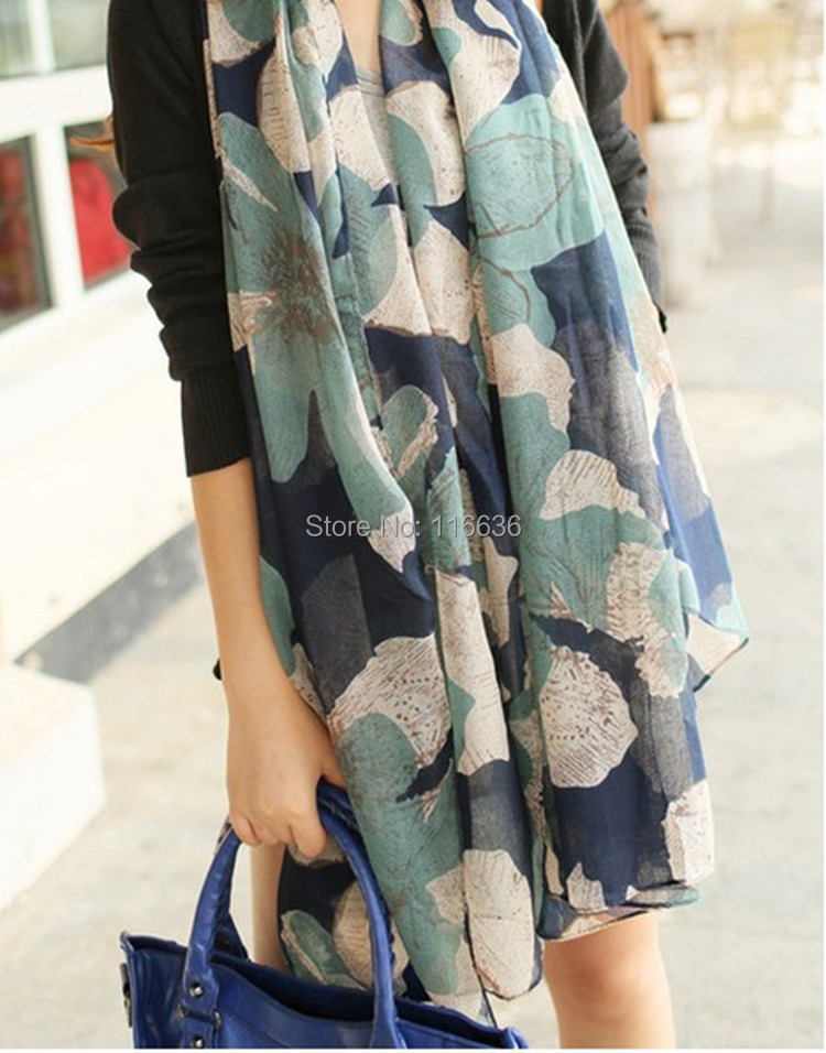 women big flower printing scarves Cotton and linen voile sequined scarf fashion scarf 180*100cm(China (Mainland))