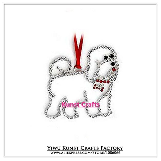 Cheap Wholesale Bichon Dog New Year Christmas Tree Decoration Ornaments Party Gift Presents CC006(China (Mainland))