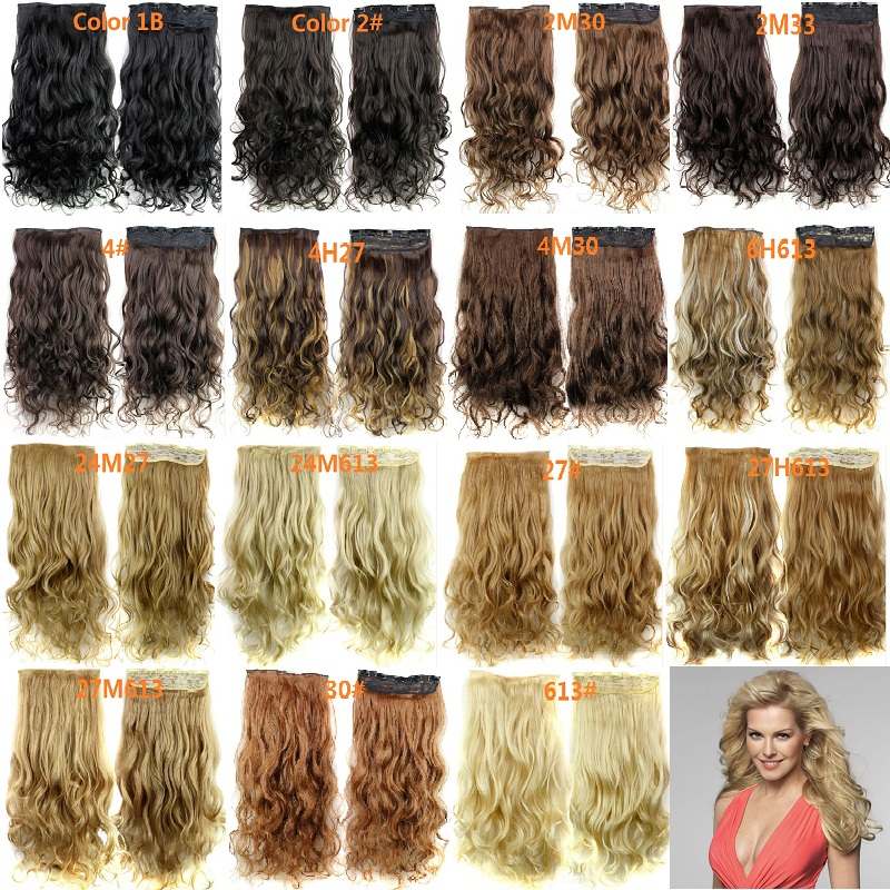 Clip in synthetic hair extensions african american clip in curly hair extensions for black women blonde 23inch 120g 5 Clips(China (Mainland))