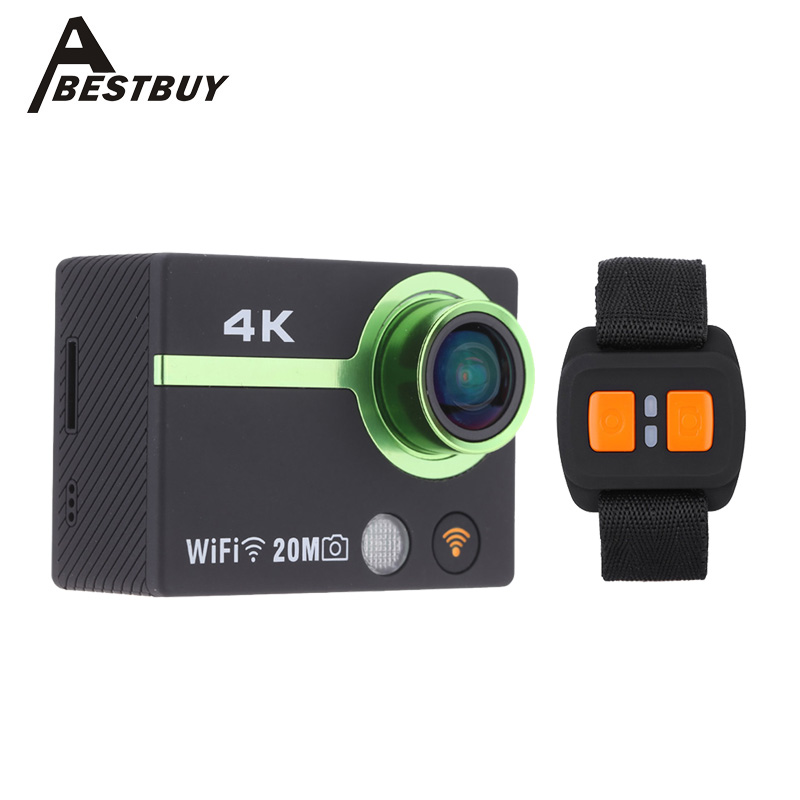 4K Full HD Wifi Sports Action Camera Watch App Smartphone Control Video Camera Camcorder Car DVR 170 Wide Angle Waterproof 50M(China (Mainland))