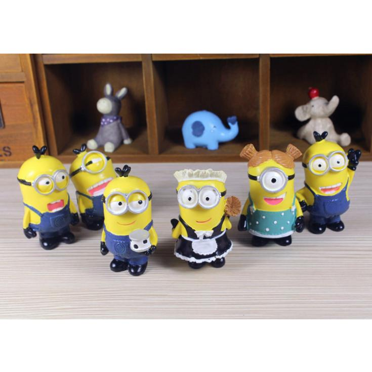 T0270 Despicable Me Movie Figure Doll Home Decoration Creative Crafts Resin Figure Gift 6pcs/LOT<br><br>Aliexpress