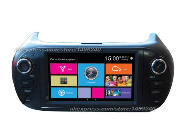 For Fiat Fiorino 2007~2013 - Car Stereo Radio DVD Player GPS Navigation 1080P Touch Screen W8 Multimedia System(China (Mainland))