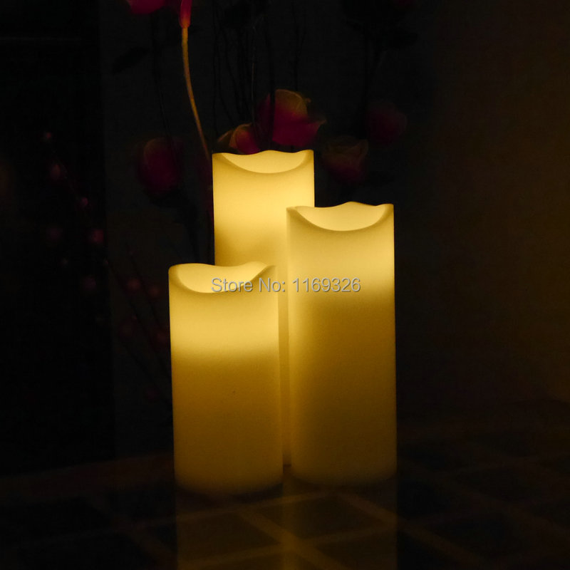 Electronic 2016 New Giant Candles Led Wax Battery Operated