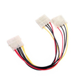 2016 New Computer Molex 4 Pin Power Supply Y Splitter Cable