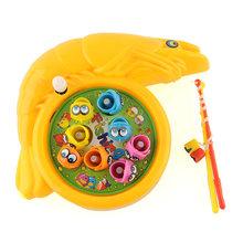 Interesting Children Baby Plastic Rotation Magnetic Fishing Game Educational Preschool Toy Set Present(China (Mainland))