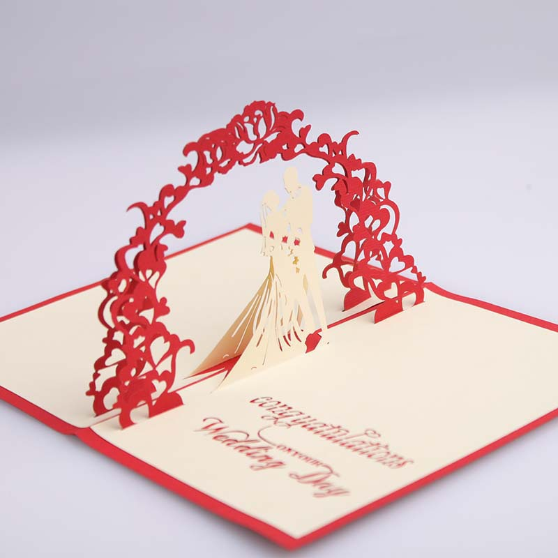 3D Pop Up Wedding Ceremony Invitation card Romantic Greeting Cards Gifts 2015 Christmas Wishes ...