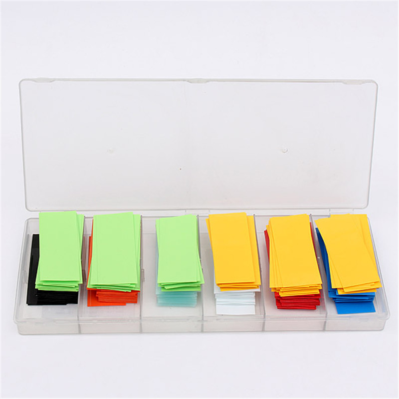 280pc Colorful 29.5MM 18.5MM PVC Heat Shrink Tubing For 18650 18500 Battery Insulation Materials Elements Power Tool Accessories<br><br>Aliexpress