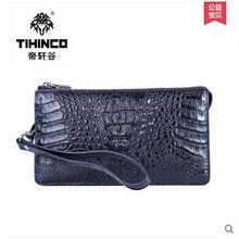 tihinco Alligator  men long zipper bag large capacity male clutches business hand bag leather bag men leather bag