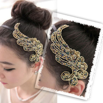 Free Shipping Trendy Bling Angel Wing Headband Hair Band Bow  Fashionable Jewelry