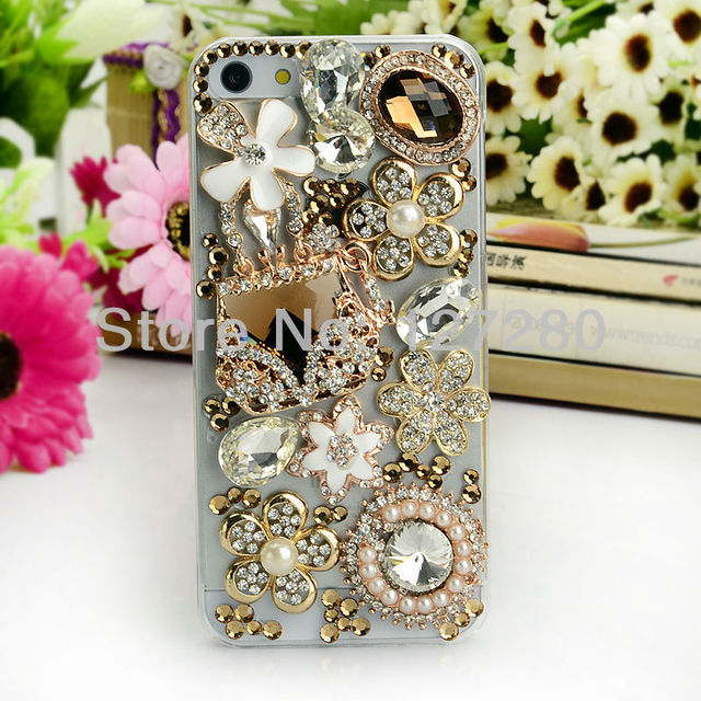free shipping new style with rhinestone strass phone bag hard plasticmobile phone case for iphone4 /4s/5